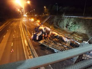 recovery, burn out, incident, m5, motorway, commercial recovery