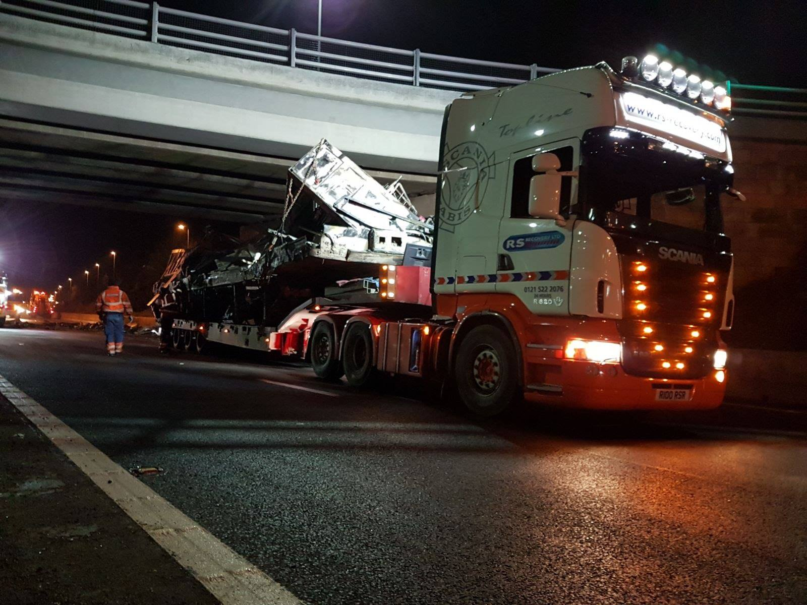 HGV incident on the M5